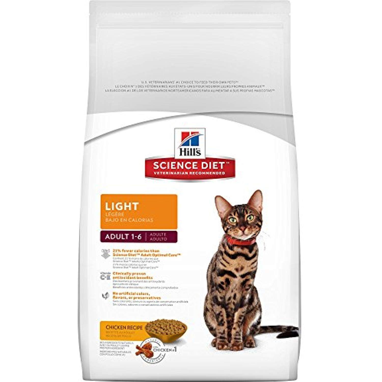 Hill's Science Diet Adult Light Cat Food, Chicken Recipe