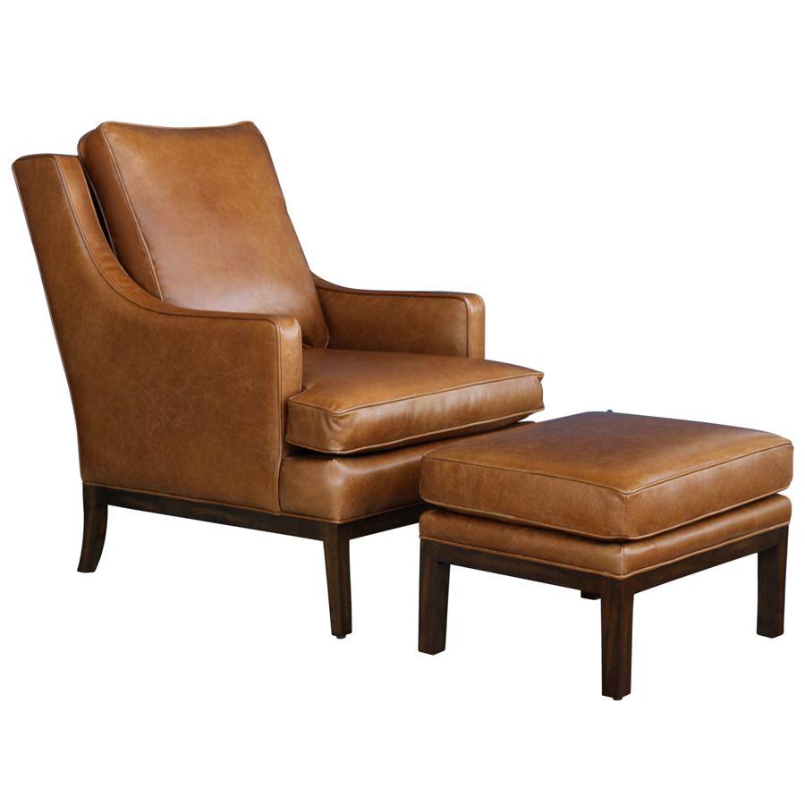 Stupendous Leather Chair And Ottoman Stuhle Stuhle Stuhl Leder Und Creativecarmelina Interior Chair Design Creativecarmelinacom