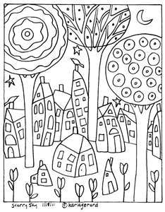 #Folk art coloring page