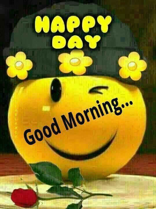 Good Morning Happy Smile Good Morninggood Nightgood