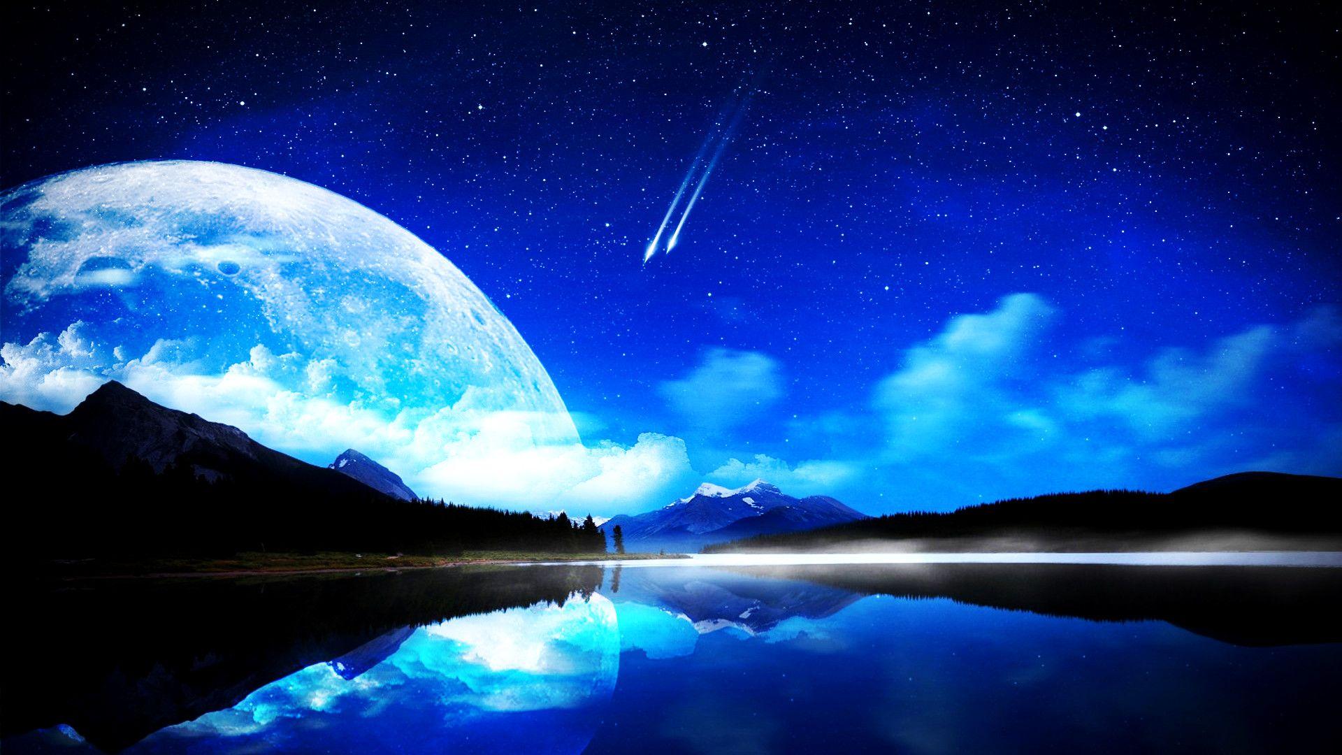Beautiful Moon Wallpaper Hd 1920x1080 Windows 7 Best Wallpaper Hd Good Night Moon Beautiful Moon