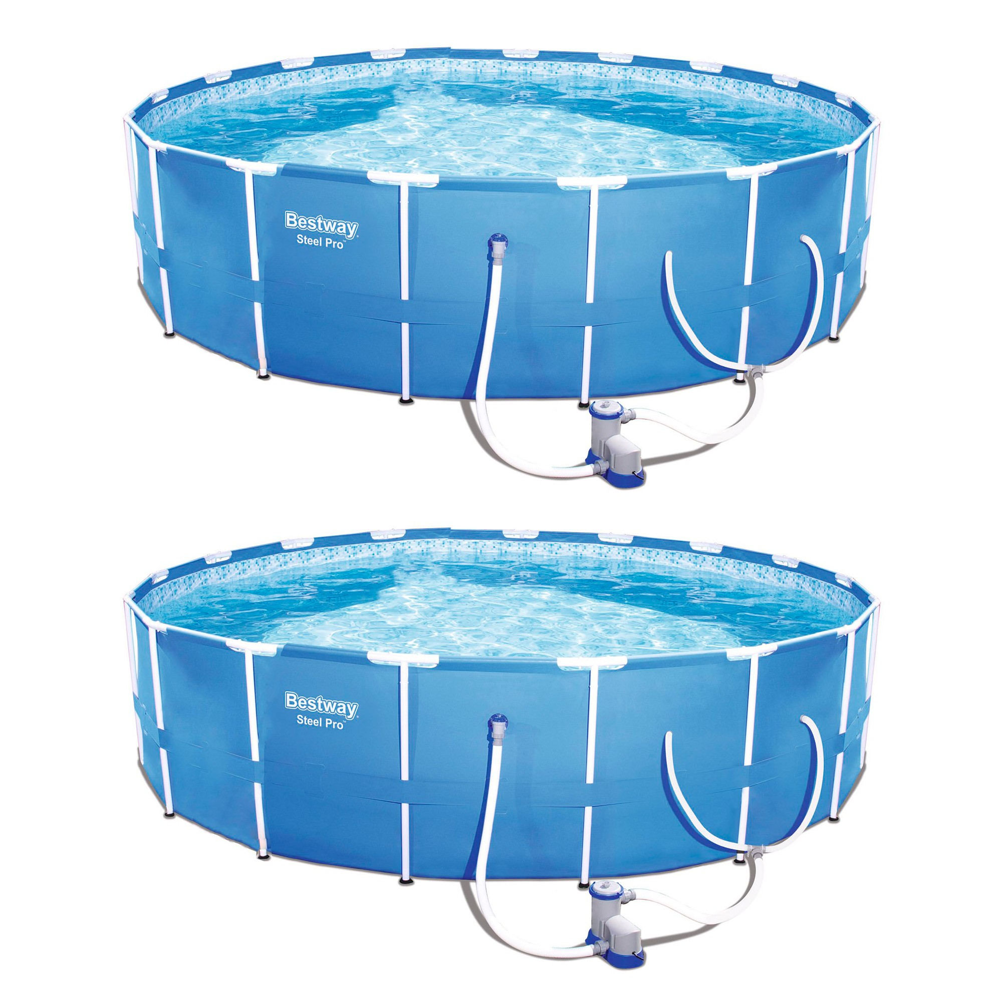 Bestway Steel Pro 12 X 30 Frame Above Ground Pool Set W Filter Pump 2 Pack In Ground Pools Bestway Above Ground Pool