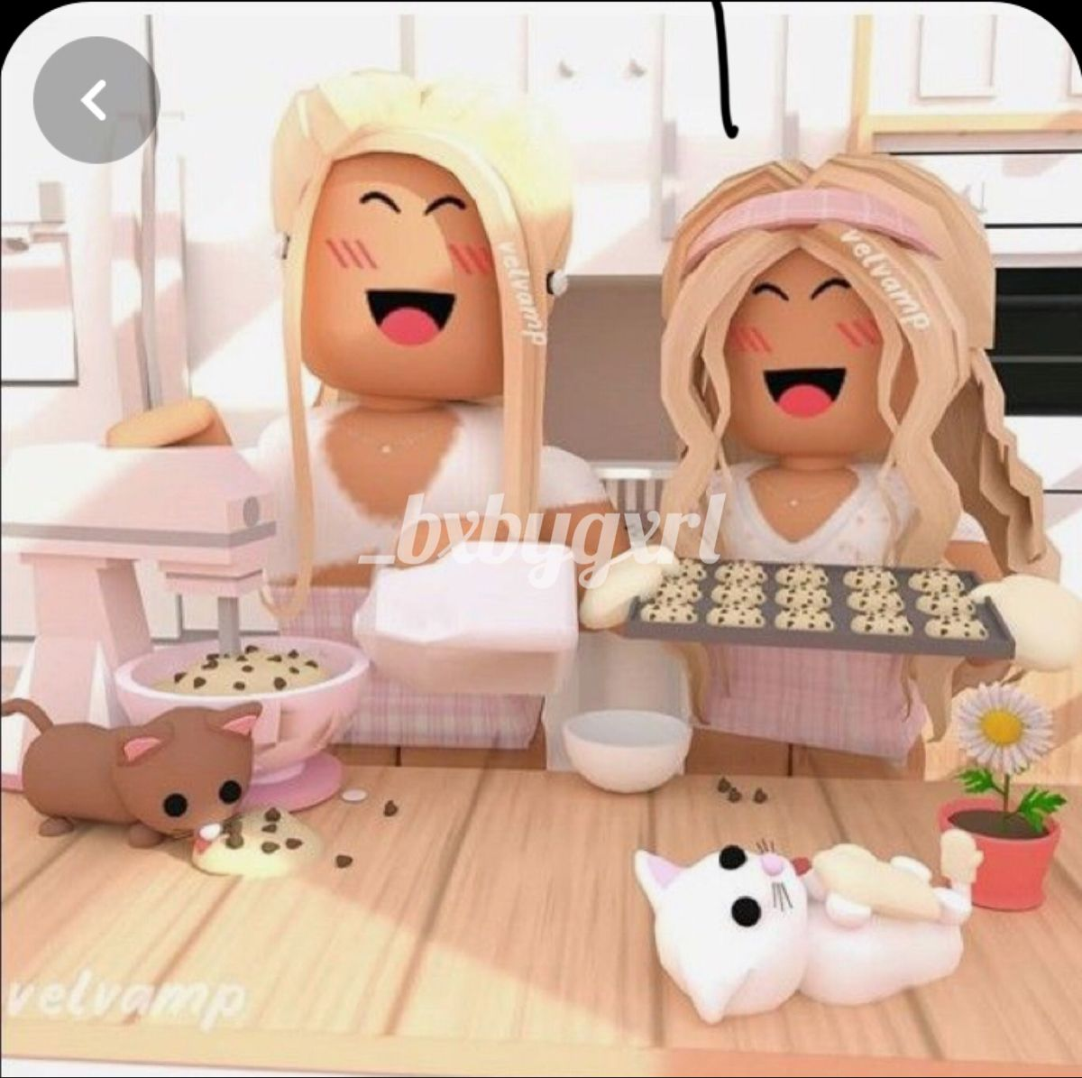 Baking Cookies With Bff Roblox Pictures Roblox Animation Cute Tumblr Wallpaper
