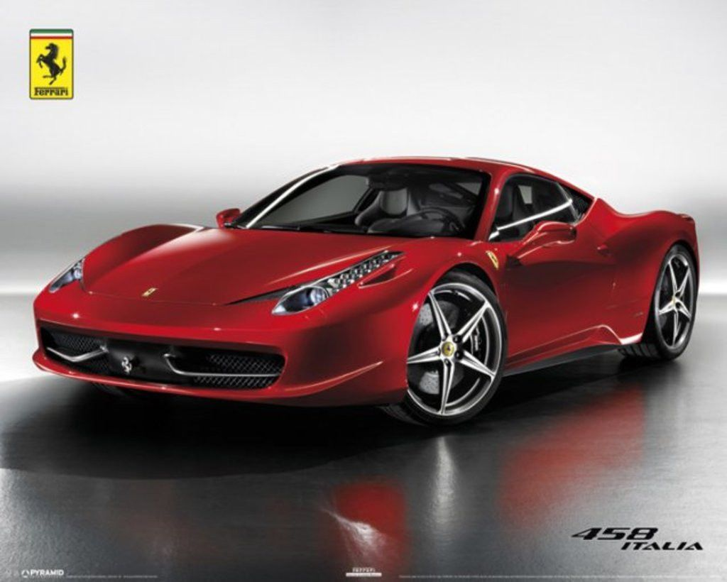 Ferrari 458 Italia Official Mini Poster Official Merchandise
