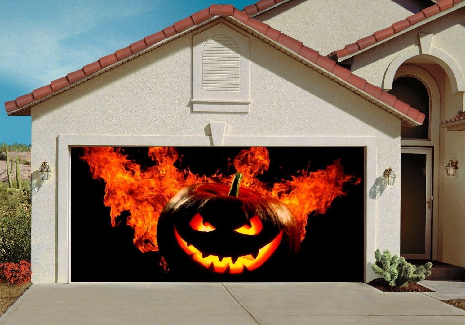 Spooky Porch Decor Kid, Other and The block - Halloween Garage Door Decorations