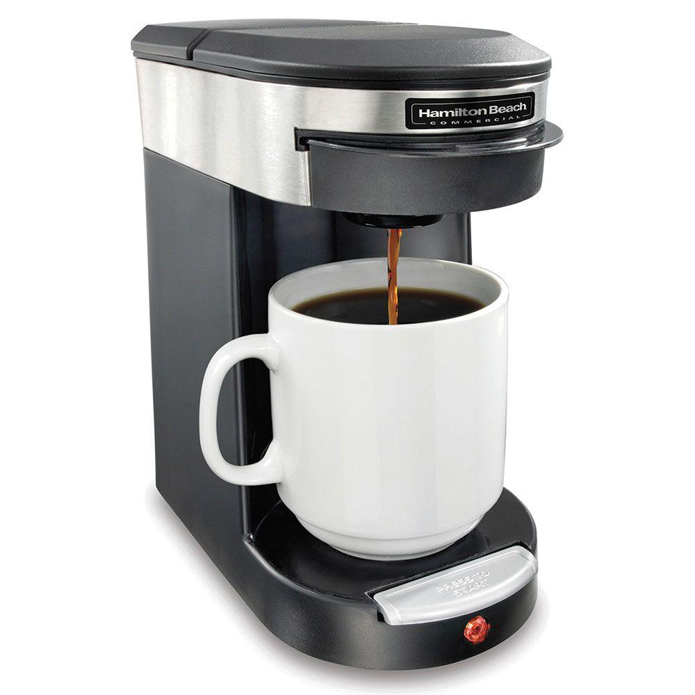 Hamilton Beach Hdc200s 1 Cup Pod Coffee Maker Black Stainless