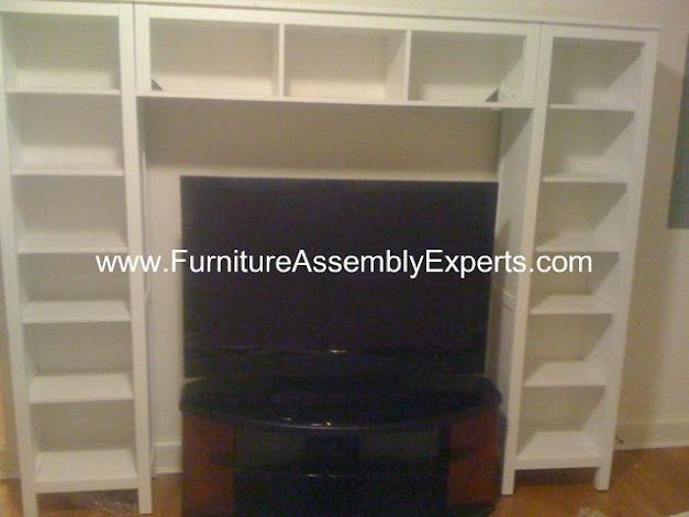 ikea hemnes tv entertainment center combination bookcases assembled in bowie md by furniture. Black Bedroom Furniture Sets. Home Design Ideas