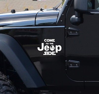 COME TO THE JEEP SIDE Star Wars Dark Side Geek Fun Car Vinyl - Custom windo decals for jeepsjeep wrangler side decals and stickers jeep gear partsmods