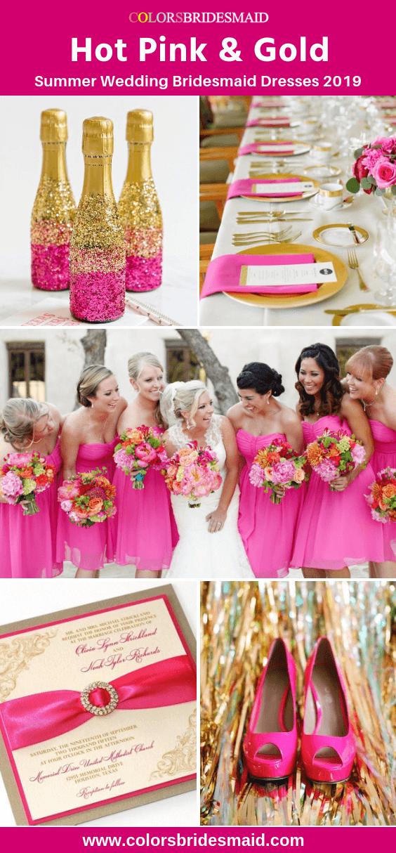 Pink Bridesmaid Dresses Hot Pink Color Pink Bridesmaid Dresses