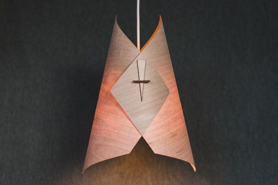Wood Pendant Light Ceiling Light Fixture Wood Lamp Shade