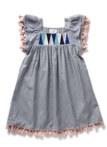 Girls Dresses & Tunics | Pinstripe Tassel Dress | Seed Heritage ...