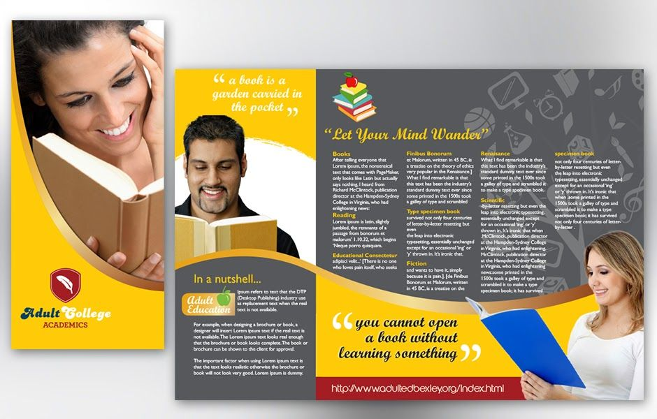 Brochure design free download brochure design free for College brochure templates free download