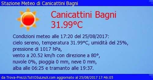 Meteo: #Canicattini #Bagni #cielo sereno e 31.99C alle 17:20 del ...