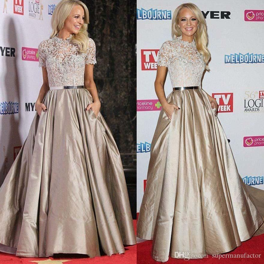 Red Carpet Celebrity Dresses 2015 New Elegant Evening Dresses High ...