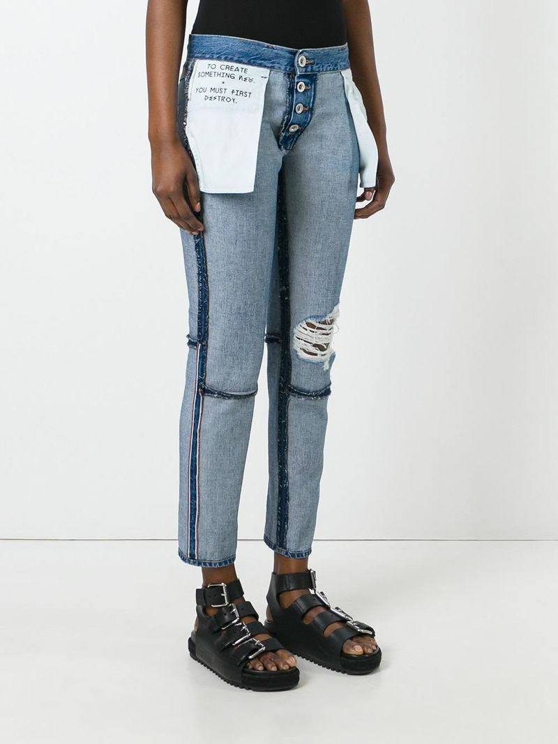 2aad7506 Inside-Out Denim Trousers - Unravel Project's Inside Out Jeans Reveal  Exposed Seams and Raw Details (GALLERY)