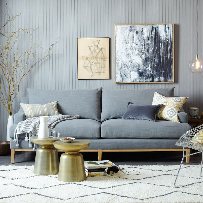 Cheap Online Furniture Stores Usa: Upscale Comfort. The Montgomery Sofa's Sloping Arms And