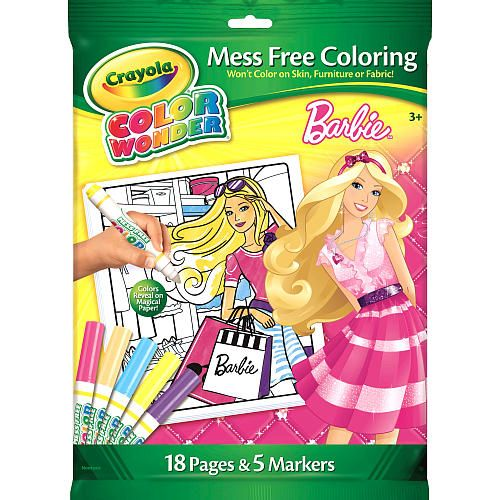Crayola Color Wonder Mess Free Coloring Set - Barbie - Crayola ...