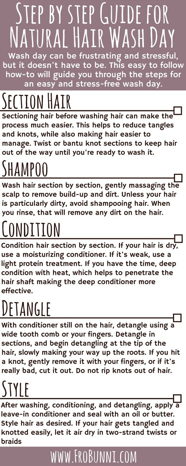 Step By Step Guide for Washing Natural Hair #naturalhaircare