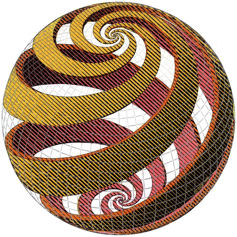 Sphere Spirals - M.C. Escher   Math Is Cool   Pinterest   Spiral ... 1b9af284a0e
