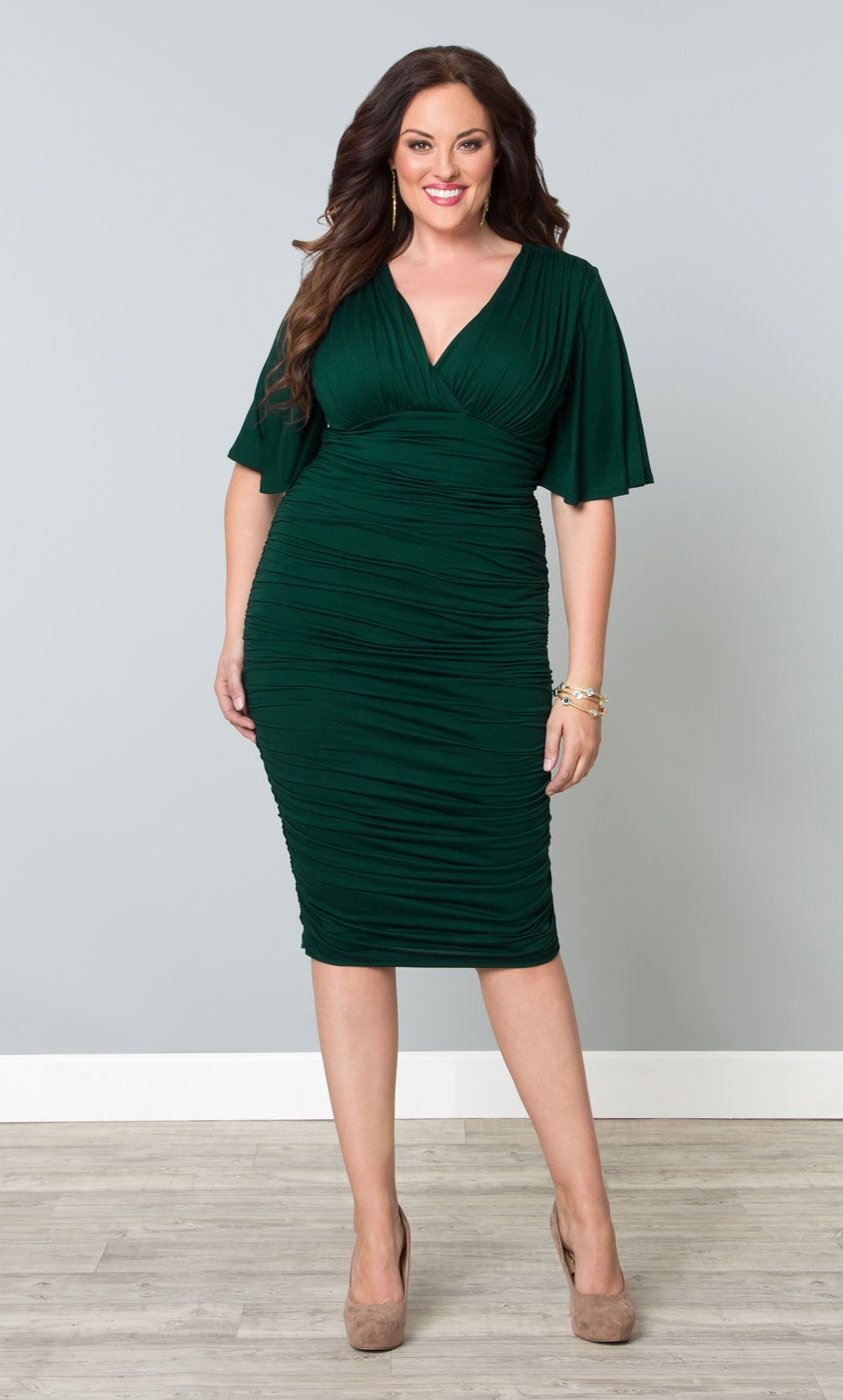 Rumor Ruched Dress Body Con Curves And Bodies