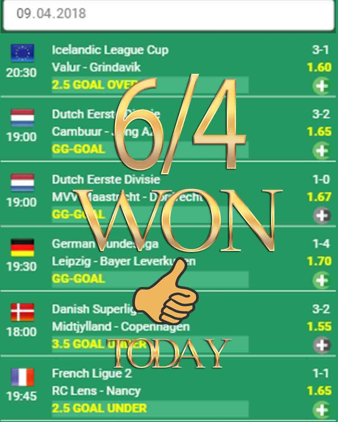 Vip betting tips football vip 6/4 WON - betting odds