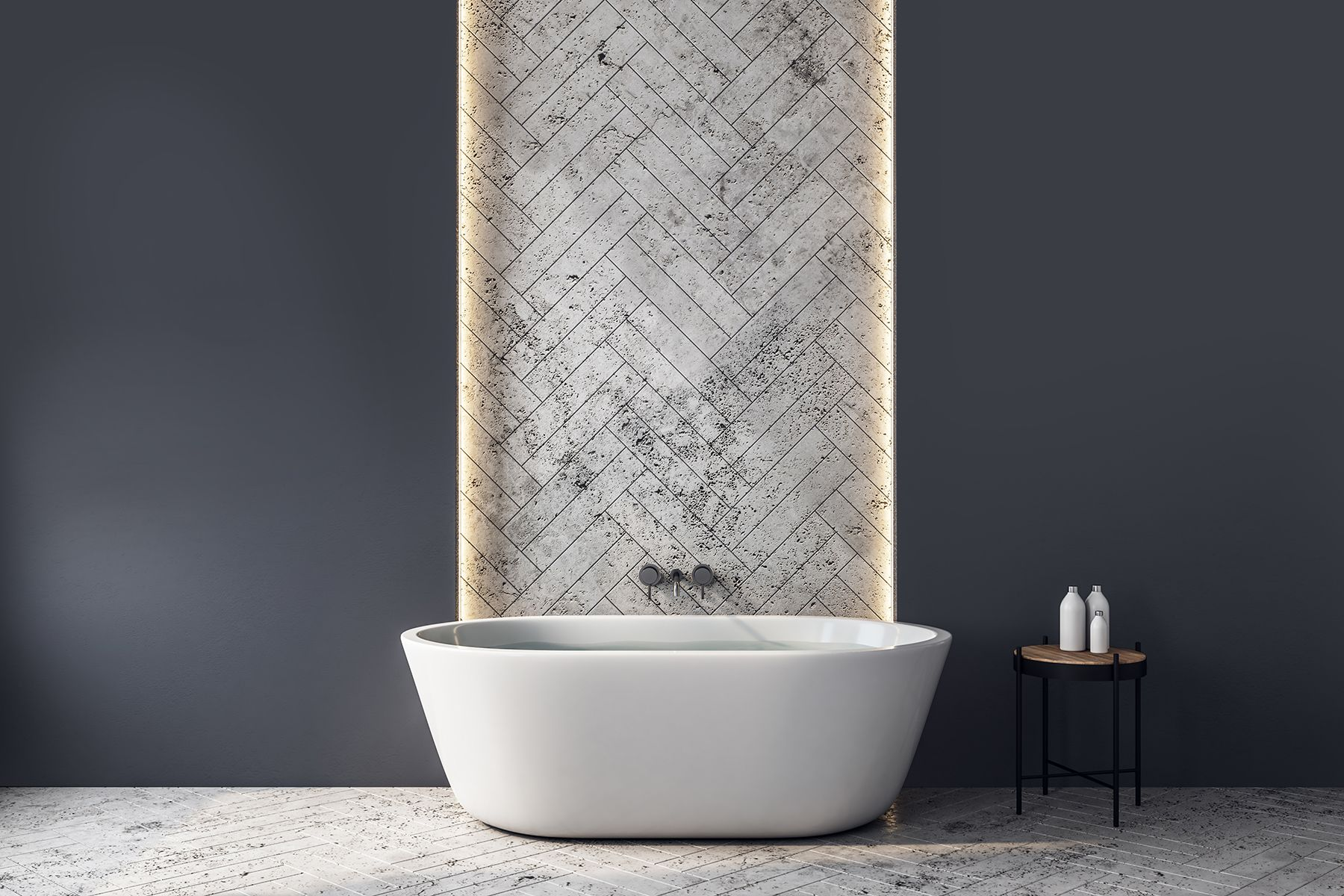 We Love Deep Tones Like Magnet C2 967 In The Bathroom When Paired With Dramatic Architectural Elements Bathroom Design Walk In Shower Designs Shower Design