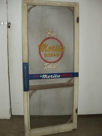 25a Country Store Screen Door Merita Bread Push Ba Storage