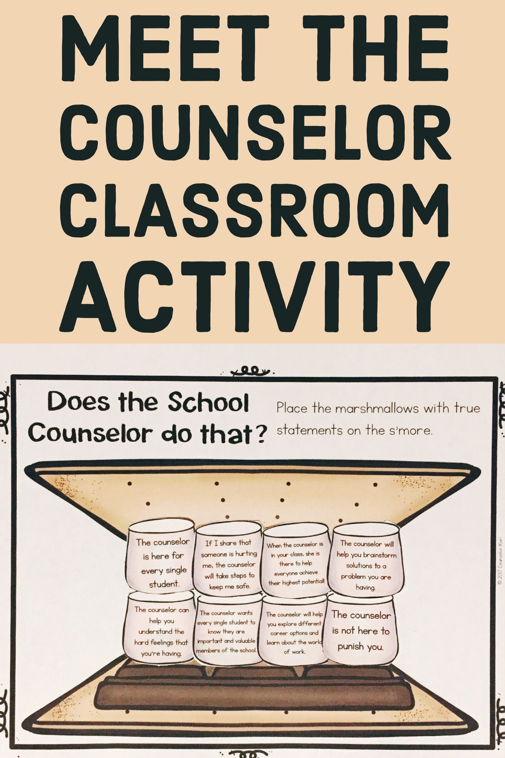 It is a graphic of Dramatic Elementary School Counseling Activities