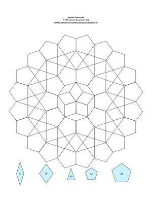 Mandala 3 mit EPP Schablonenzahl drin. | Projekt att testa | Pinterest