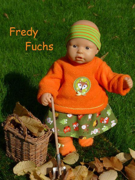 """Puppenkleidung - """"FredyFuchs"""" 5tlg Set Gr.35-40cm - ein Designerstück von…"""