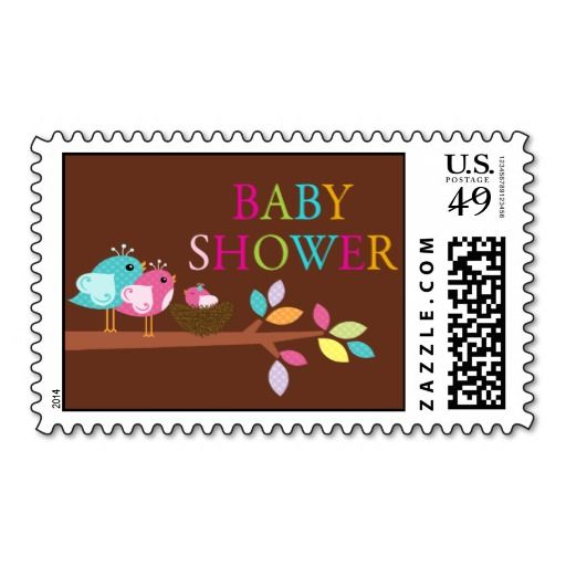 cute bird nest baby shower thank you postage stamp make your own