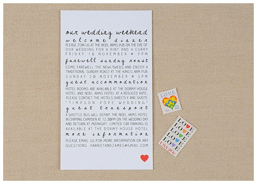 How Big Are Wedding Invitations: Weekend Wedding Invite - Before The Big Day