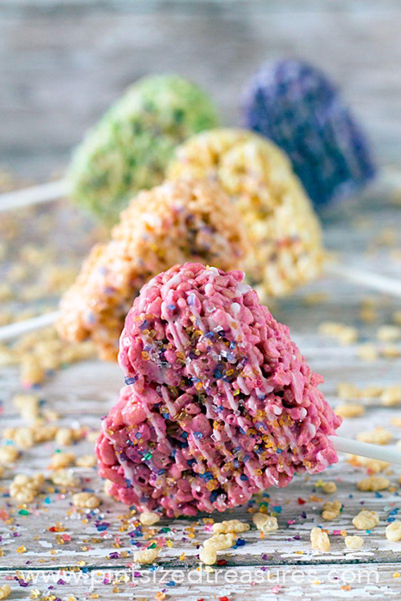Heart shaped rice krispie/ cereal treats Rice krispies