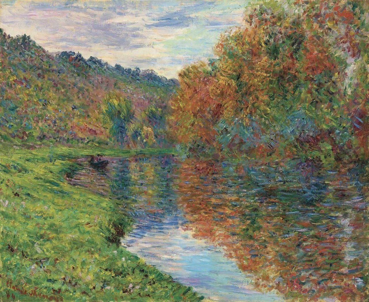 Claude Monet - Branche de la Seine à Jeufosse