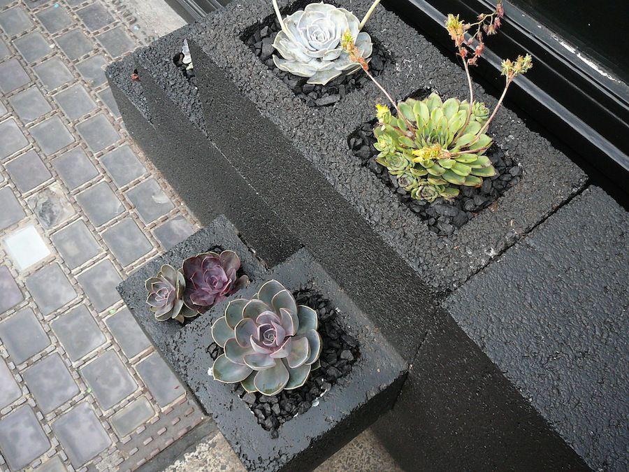 cinder block planter detail 2 - saf affect
