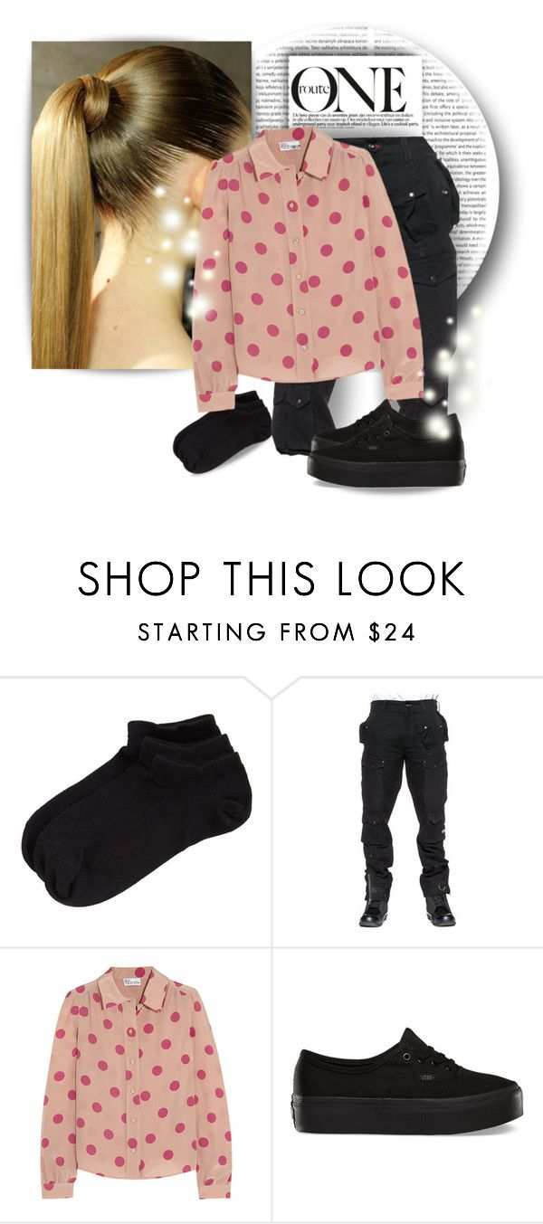 """""""OOTD #2"""" by lindsay-qwerty ❤ liked on Polyvore featuring Oris, Zella, RED Valentino and Vans"""