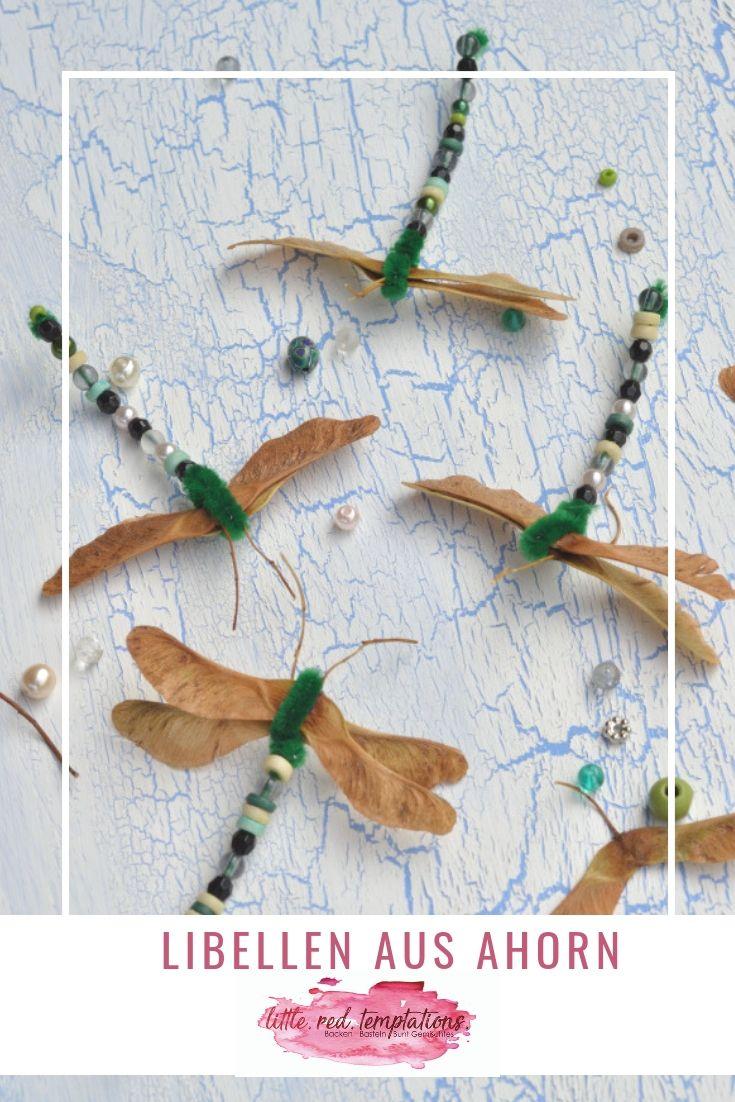 Libellen basteln - Kreativ mit Naturmaterial #herbstdekobastelnnaturmaterialien