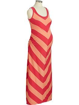 33db22160fc Maternity Chevron-Striped Maxi Tank Dresses