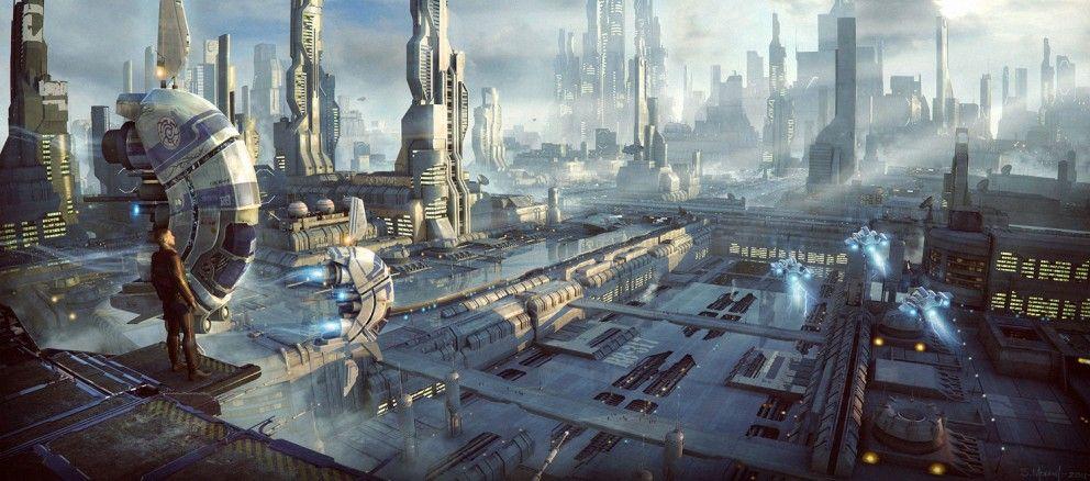 4 Sci-Fi Art Concepts by Stefan Morrell - Concept art, Sci-fi