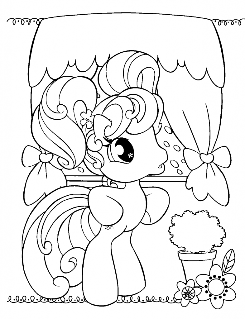 Free Printable My Little Pony Coloring Pages For Kids | Libros para ...