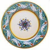 Deruta dinner plates Giada pattern  sc 1 st  Pinterest & Deruta dinner plates Giada pattern | Italian Ceramica | Pinterest ...