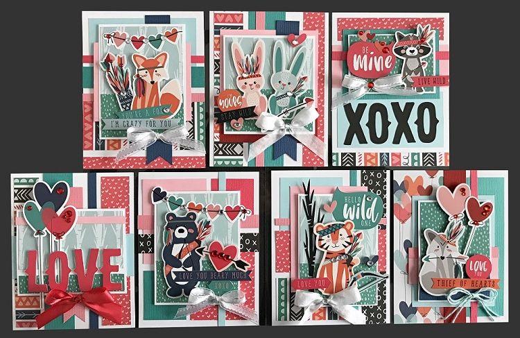 Crazy For You Card Kit Kim S Card Kits Handmade Greeting Card Kit Unique Handmade Cards Cards Greeting Card Kits