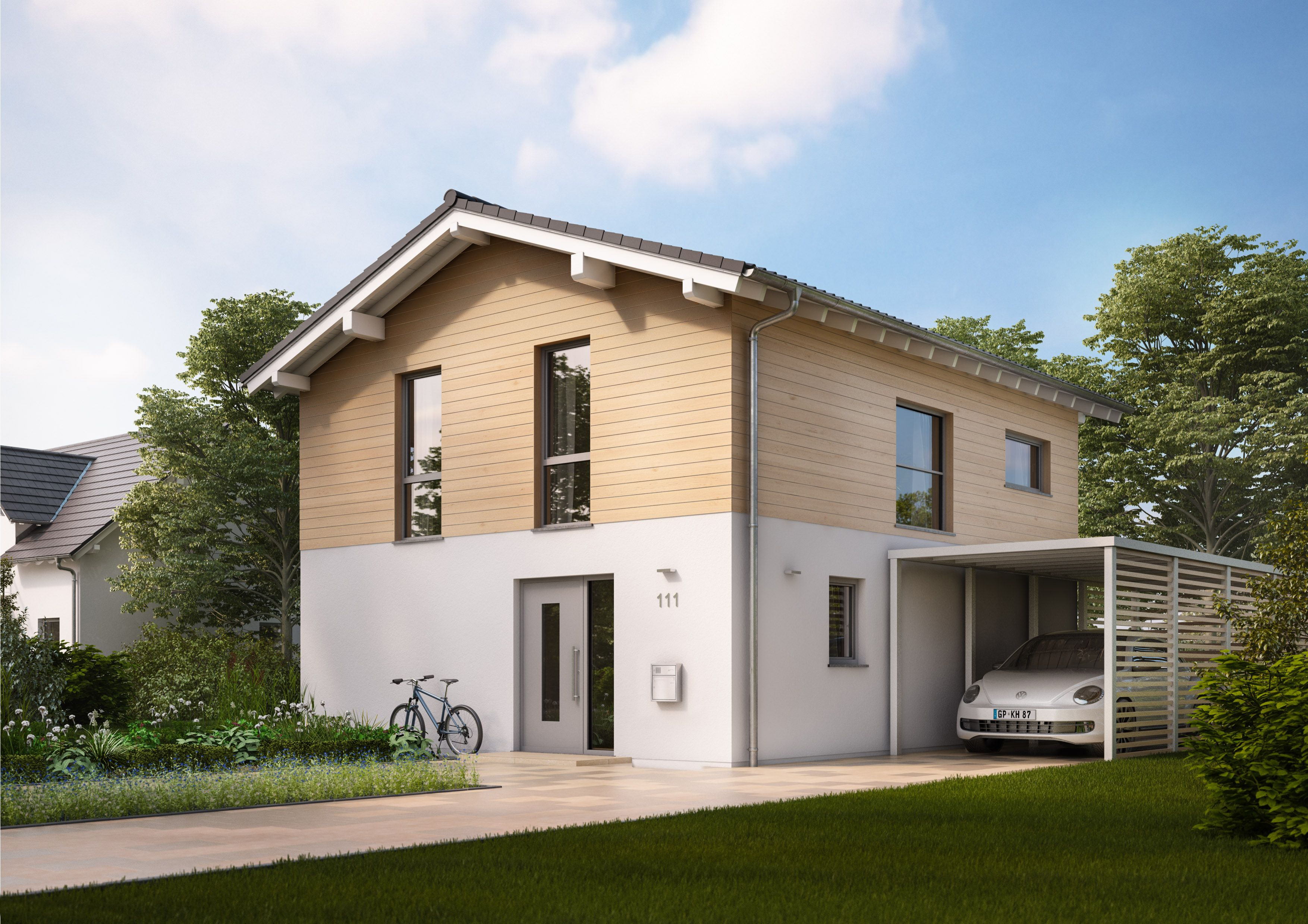 Familienhaus Cara überzeugt mit einer modernen Fassade
