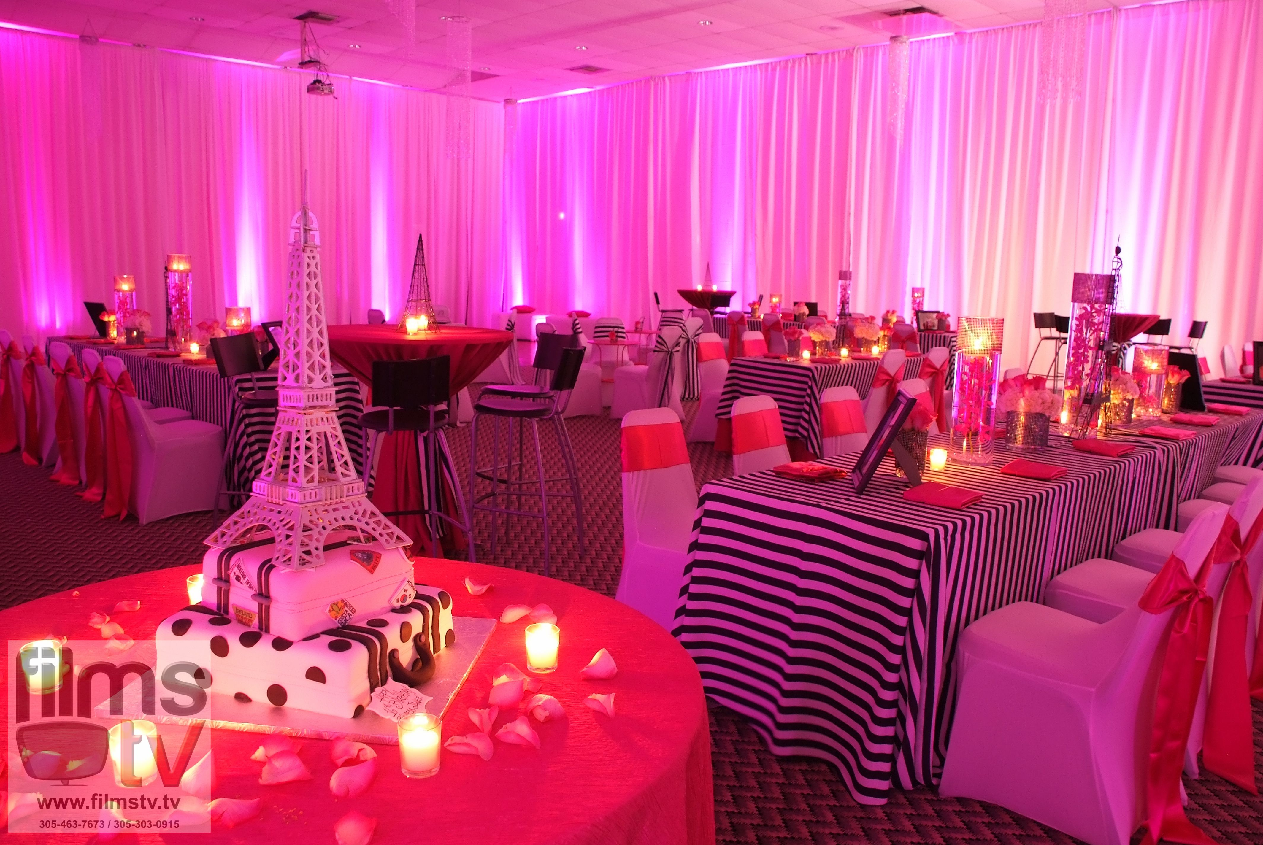 A night in Paris! Paris themed sweet sixteen! www.evogaevents.com ...