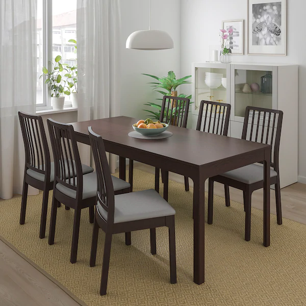 Ikea Ekedalen Dark Brown Extendable Table Dining Room Sets Table Chair