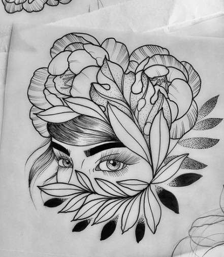 Flowers Tattoo Sketch Color 54 Ideas #tattoo #flowers