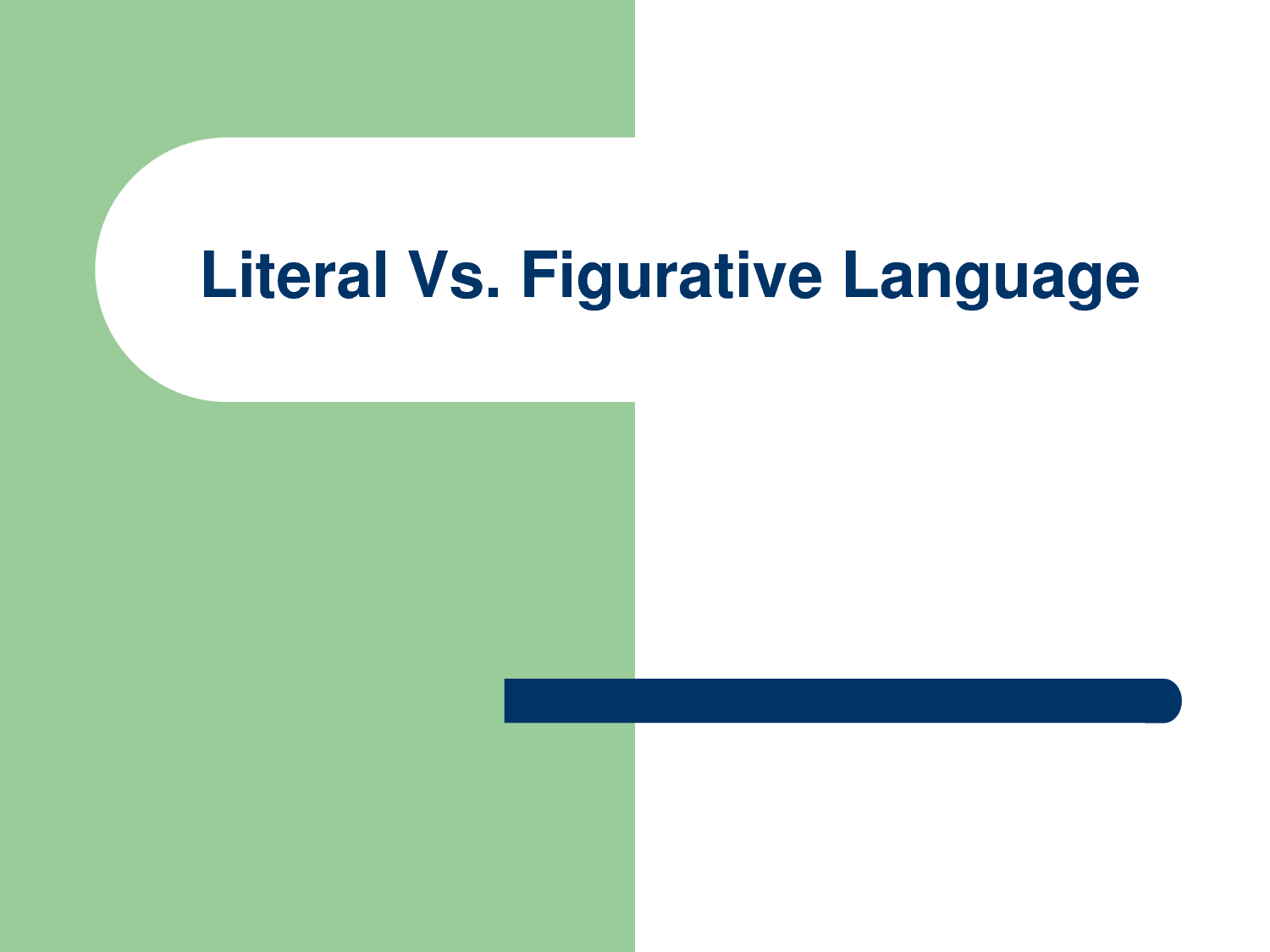 Literal Language Refers To Words That Do Not Deviate From