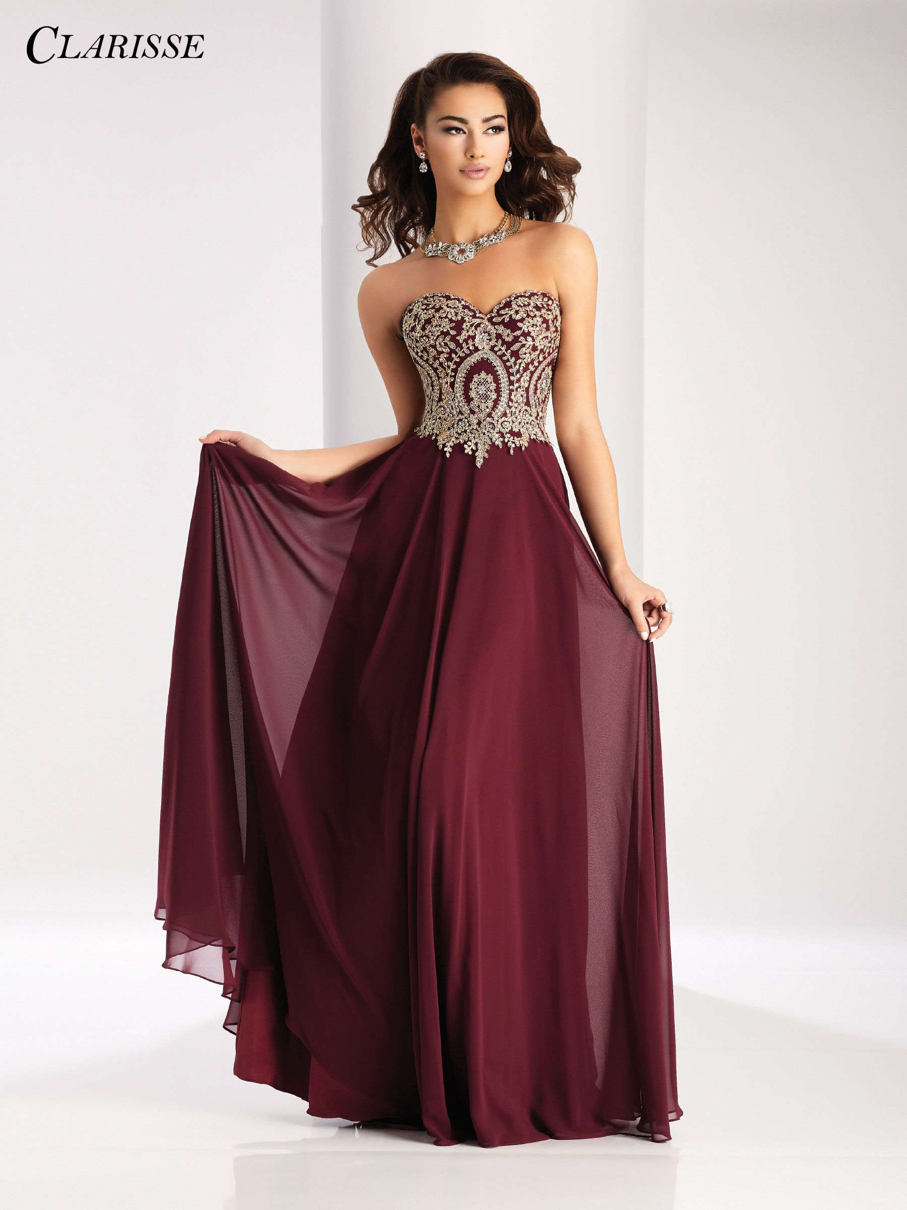 Clarisse prom dress stunning lace appliqué a sweetheart