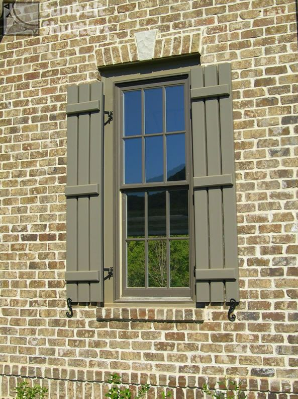 Board and batten shutters are a great choice for country - Exterior board and batten spacing ...
