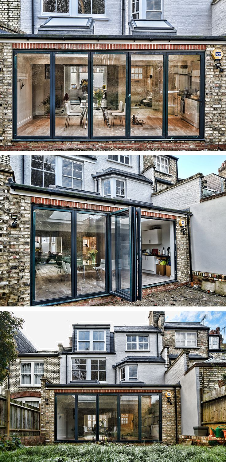 Slim Aluminium Bi Folding Doors In Anthracite Grey Compliment This